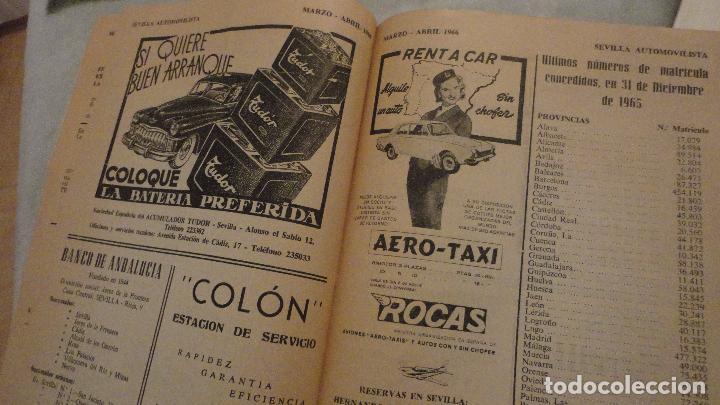 Coches: REVISTA SEVILLA AUTOMOVILISTA.REAL CLUB DE ANDALUCIA.Nº 317 1966 - Foto 7 - 149640722