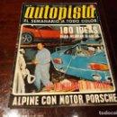 Coches: REVISTA AUTOPISTA Nº 652 AÑO 1971. ALPINE CON MOTOR PORSCHE .POSTER DE ALEX SOLER -ROIG FORD CAPRI. Lote 149801926