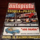 Coches: REVISTA AUTOPISTA Nº 654 AÑO 1971. 600 PANDA - NUESTRO DISEÑO. Lote 149815482