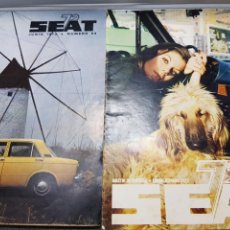 Coches: REVISTA *SEAT* AÑO 1972 LOTE 2 ESCASAS. Lote 150161549