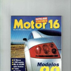 Coches: CATÁLOGO MOTOR 16 Nº 62- MODELOS 1999. Lote 150225458