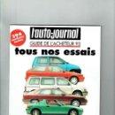 Coches: REVISTA L'AUTO JOURNAL ESPECIAL PRUEBAS 1993. Lote 150256778