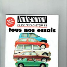 Coches: REVISTA L'AUTO JOURNAL ESPECIAL PRUEBAS 1993. Lote 150256778