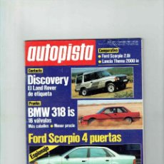 Coches: REVISTA AUTOPISTA Nº 1582 BMW 318 IS. Lote 150260542