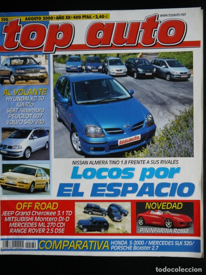 REVISTA TOP AUTO Nº 130- HONDA S200- METCEDES SLK- PORSCHE BOXSTER (Coches y Motocicletas Antiguas y Clásicas - Revistas de Coches)