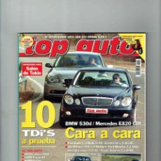 Coches: REVISTA TOP AUTO Nº 194- BMW 530D- MERCEDES E320 CDI. Lote 150276790