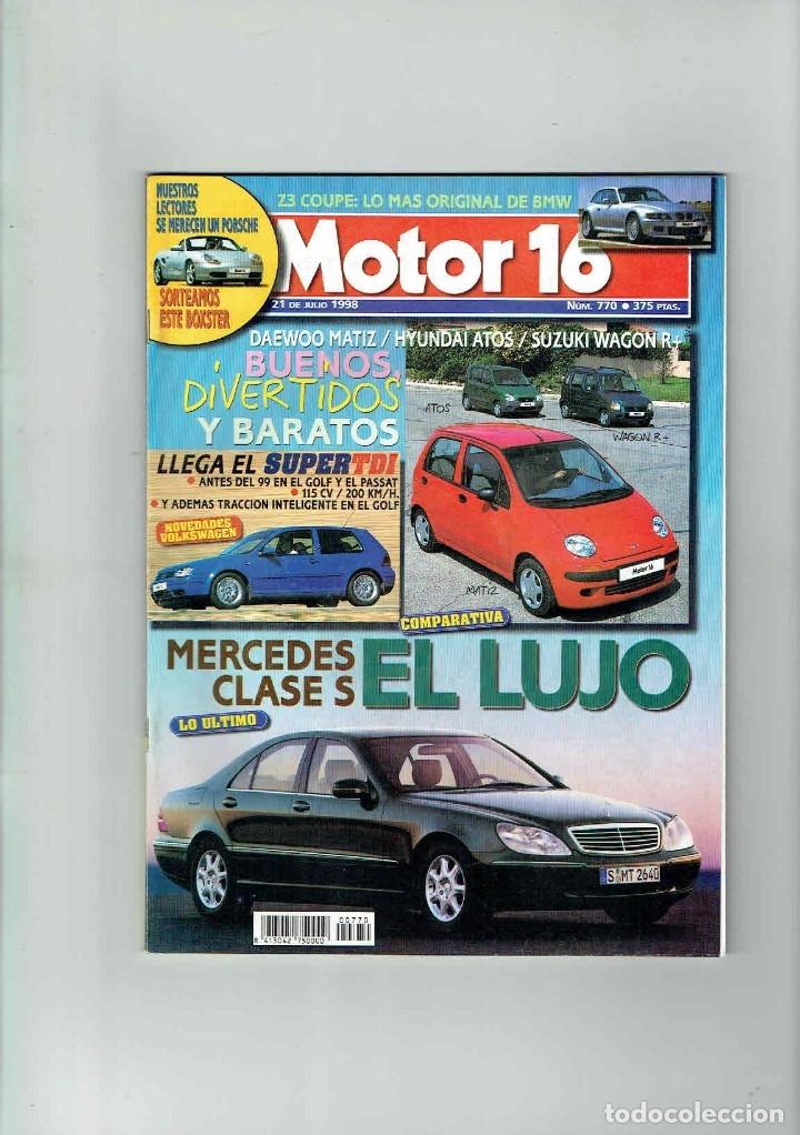 REVISTA MOTOR 16 Nº 770 (Coches y Motocicletas Antiguas y Clásicas - Revistas de Coches)