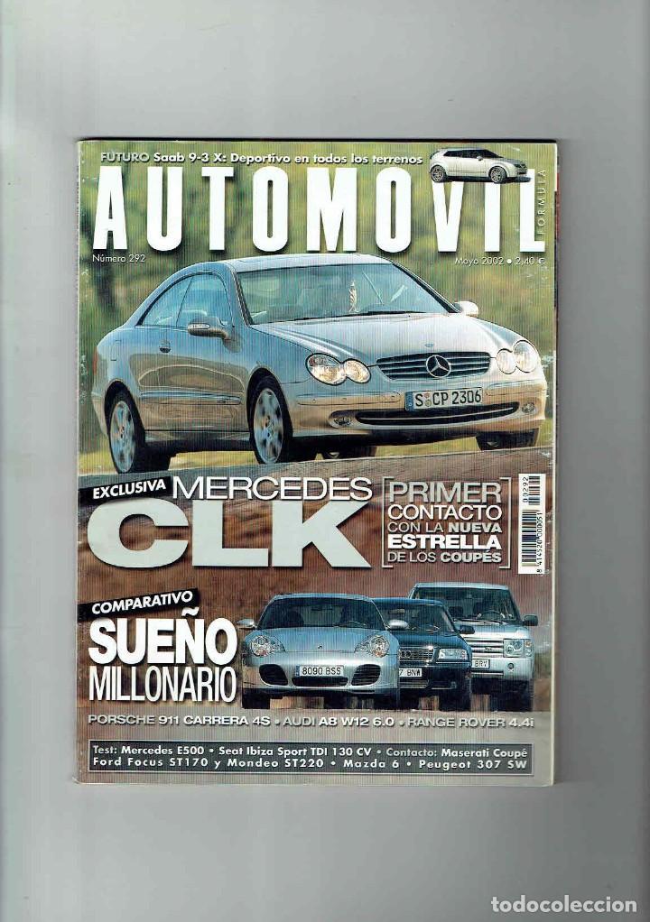 REVISTA AUTOMÓVIL Nº 292 (Coches y Motocicletas Antiguas y Clásicas - Revistas de Coches)