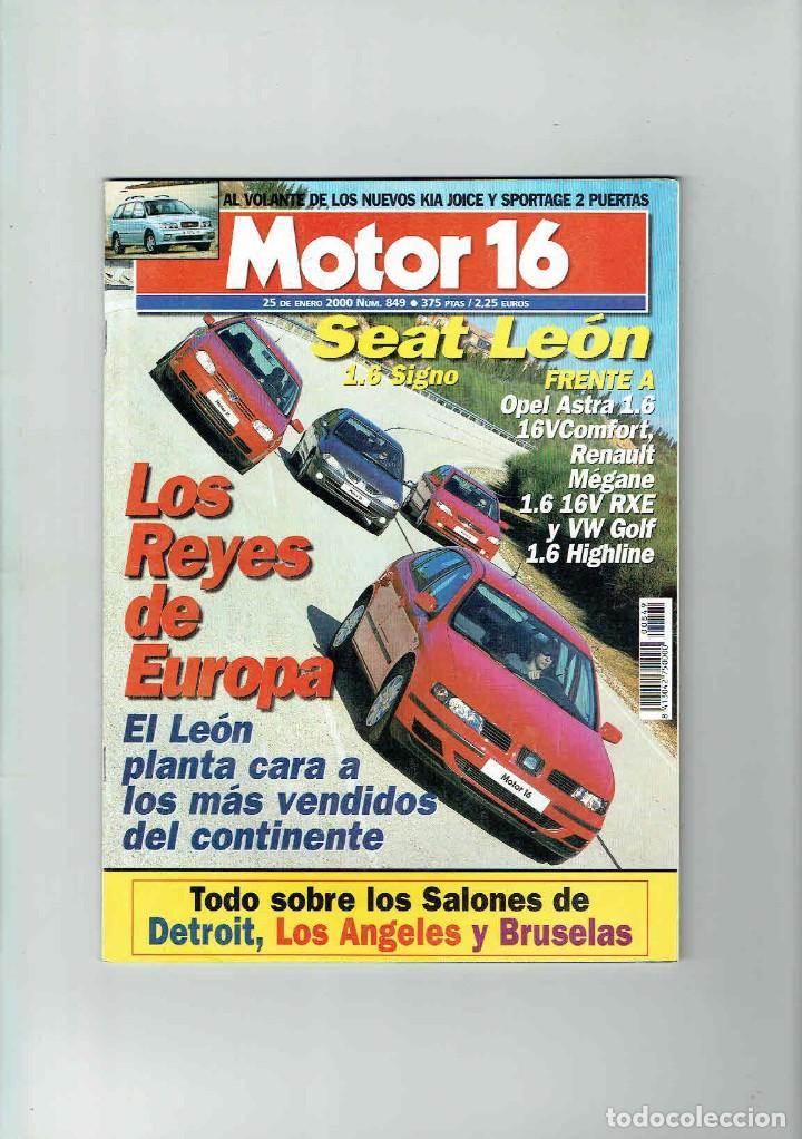 REVISTA MOTOR 16 Nº 849 (Coches y Motocicletas Antiguas y Clásicas - Revistas de Coches)