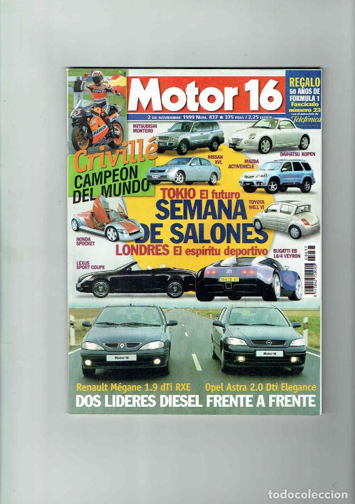 REVISTA MOTOR 16 Nº 837 (Coches y Motocicletas Antiguas y Clásicas - Revistas de Coches)