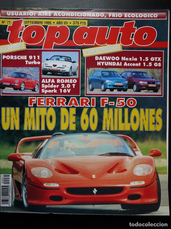 REVISTA TOP AUTO Nº 71- PORCHE 911 TURBO (Coches y Motocicletas Antiguas y Clásicas - Revistas de Coches)