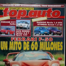 Coches: REVISTA TOP AUTO Nº 71- PORCHE 911 TURBO. Lote 150625778