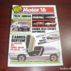 Coches: REVISTA- MOTOR 16 - AÑO 1986 - Nº 156- OPEL OMEGA -COUPE BREAK- MERCEDES-TOYOTA NISSAN. Lote 150833314