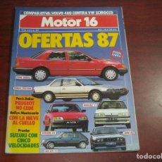 Coches: REVISTA- MOTOR 16 - AÑO 1987 - Nº 170- FORD SIERRA-HONDA PRELUDE-RENAULT 11-PARIS DAKAR. Lote 150834710