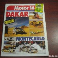 Coches: REVISTA- MOTOR 16 - AÑO 1987 - Nº 171- EXTRA DAKAR- MONTECARLO- A FONDO ORION TURBODIESEL. Lote 150834890
