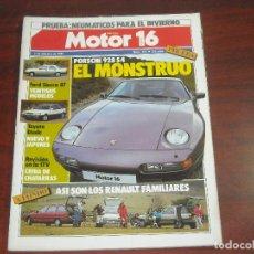 Coches: REVISTA- MOTOR 16 - AÑO 1987 - Nº 172- PORSCHE 928 S4-- RENAULT SIERRA 21 MODELOS. Lote 150839786