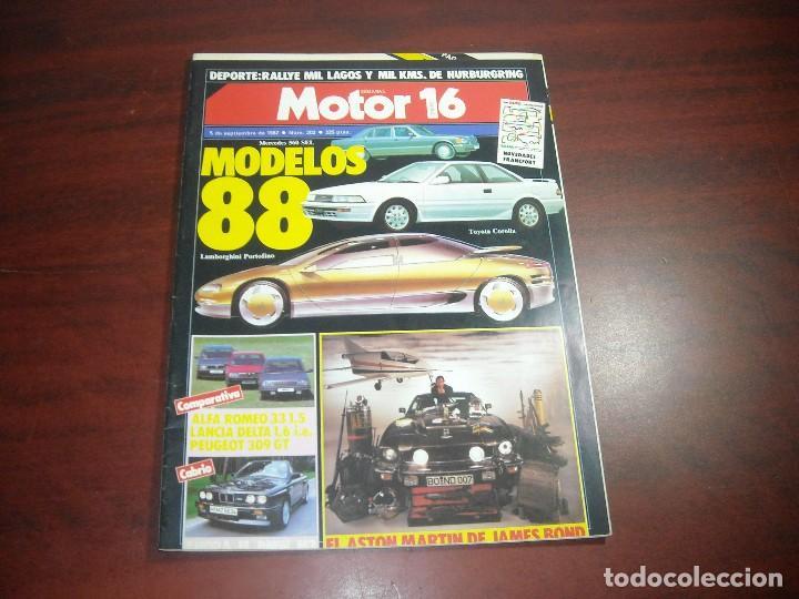 REVISTA- MOTOR 16 - AÑO 1987 - Nº 202- ASTON MARTIN JAMES BOND- LAMBORGHINI PORTOFINO (Coches y Motocicletas Antiguas y Clásicas - Revistas de Coches)