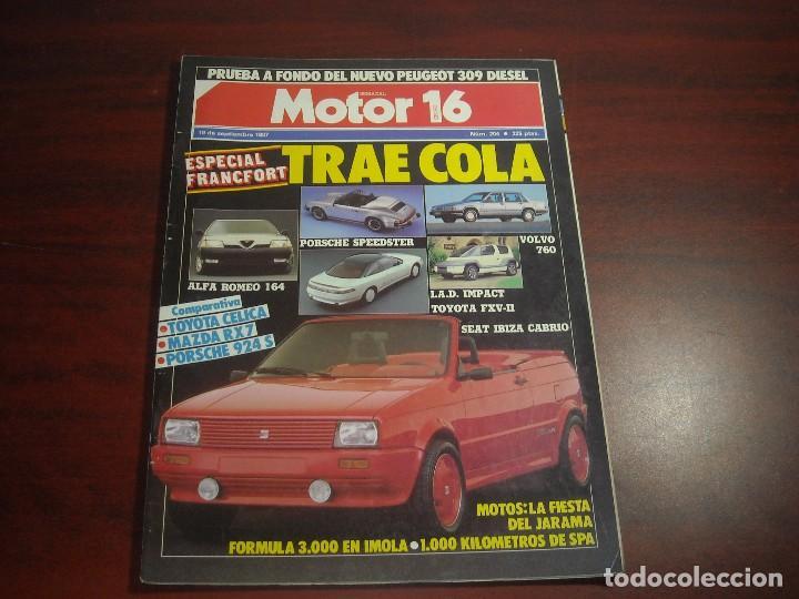REVISTA- MOTOR 16 - AÑO 1987 - Nº 204- PORSCHE SPEEDSTER -SEAT IBIZA CABRIO (Coches y Motocicletas Antiguas y Clásicas - Revistas de Coches)