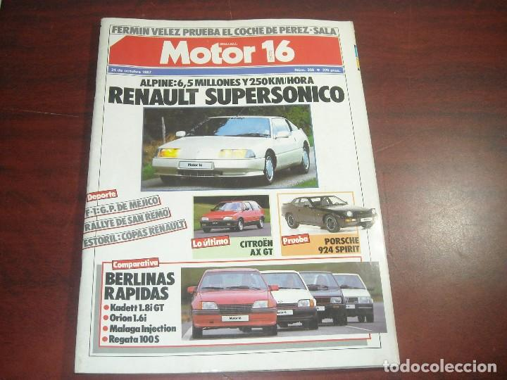 REVISTA- MOTOR 16 - AÑO 1987 - Nº 209- PORSCHE 924 SPIRIT-OPEL CORSA -REANULT ALPINE (Old and Classic Cars and Motorcycles - Car Magazines)