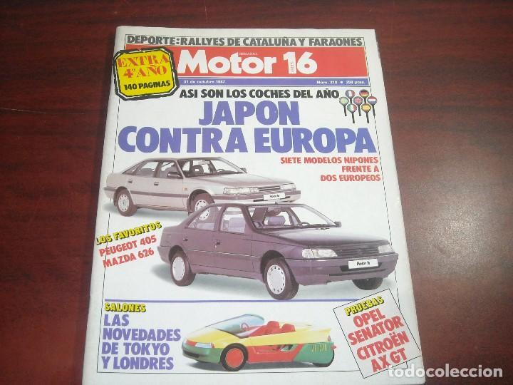 REVISTA- MOTOR 16 - AÑO 1987 - Nº 210 EXTRA- COCHES DEL AÑO- OPEL SENATOR CITROEN AX GT (Coches y Motocicletas Antiguas y Clásicas - Revistas de Coches)