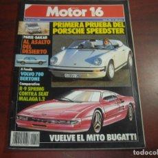 Coches: REVISTA- MOTOR 16 - AÑO 1987 - Nº 220- PORSCHE SPEEDSTER-DAKAR-BUGATI-SEAT MALAGA-VOLVO 780. Lote 150847178