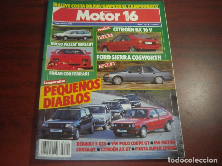 Coches: REVISTA- MOTOR 16 - AÑO 1987 - Nº 226- FORD SIERRA COSWORTH-RENAULT 5-FIESTA CORSA-MG METRO - Foto 1 - 150847278