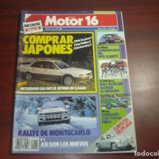 Coches: REVISTA- MOTOR 16 - AÑO 1989 - Nº 275- - GOLF AL DESNUDO- RALLY MONTECARLO- OPEL KADETT. Lote 150974122