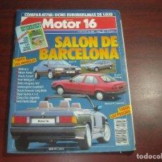 Coches: REVISTA- MOTOR 16 - AÑO 1989 - Nº 290- SALON DE BARCELONA . Lote 150974878