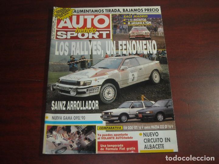 REVISTA- AUTO HEBDO SPORT- AÑO 1989 - Nº 243 - GOLF GTI CONTRA MAZDA 323 GY-GAMA OPEL 90 (Coches y Motocicletas Antiguas y Clásicas - Revistas de Coches)