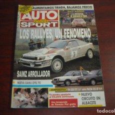 Coches: REVISTA- AUTO HEBDO SPORT- AÑO 1989 - Nº 243 - GOLF GTI CONTRA MAZDA 323 GY-GAMA OPEL 90. Lote 151019922
