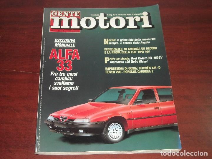 REVISTA- GENTE MOTORI DICIEMBRE 1989 Nº 12 - EDICIÓN ITALIANA -GENTE MOTOR (Coches y Motocicletas Antiguas y Clásicas - Revistas de Coches)