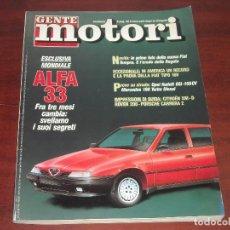 Coches: REVISTA- GENTE MOTORI DICIEMBRE 1989 Nº 12 - EDICIÓN ITALIANA -GENTE MOTOR. Lote 151122854