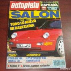 Coches: REVISTA- AUTOPISTA AÑO 1989 Nº 1556- SALON DE BARCELONA. Lote 151133882