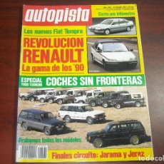 Coches: REVISTA- AUTOPISTA AÑO 1989 Nº 1584- ESPECIAL TODO TERRENO- RENAULT GAMA LOS 90. Lote 151134170