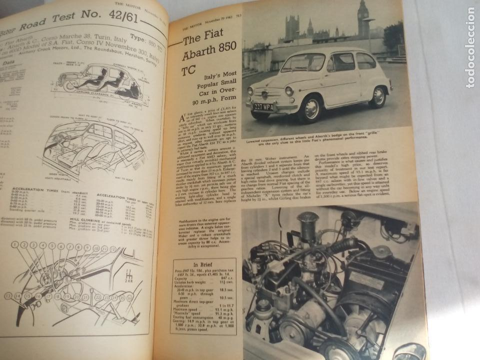 Coches: THE MOTOR NOVEMBER 29 1961 MAGAZINE. FIAT ABARTH 850 TC.... REVISTA COCHES, MECANICA, AUTOMOVILISMO - Foto 6 - 151164802