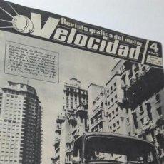 Coches: REVISTA GRAFICA DEL MOTOR VELOCIDAD. 1 SEPBRE. 1961. NUM. 37. BARREIROS EN MADRID.. Lote 151892470