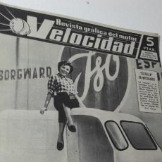 Coches: REVISTA GRAFICA DEL MOTOR VELOCIDAD. 15 OCTUBRE 1961. ESTRELLA EN MOTOCARRO.. Lote 151892662