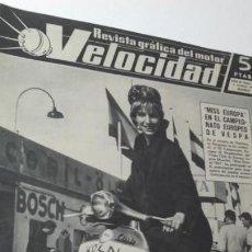 Coches: REVISTA GRAFICA DEL MOTOR VELOCIDAD. 1 OCTUBRE 1961. MISS EUROPA EN VESPA.. Lote 151892922