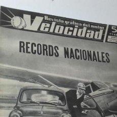Coches: REVISTA GRAFICA DEL MOTOR VELOCIDAD. 15 DICBRE. 1962. NUM. 68. PORTADA SEAT 600.. Lote 151893414