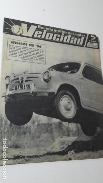 REVISTA GRAFICA DEL MOTOR VELOCIDAD. 1 MAYO 1962. NUM. 53. PORTADA AUTO-CROSS CON SEAT 600. (Coches y Motocicletas Antiguas y Clásicas - Revistas de Coches)