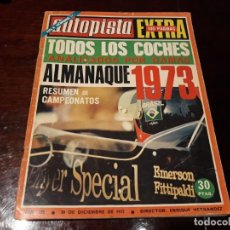 Coches: REVISTA AUTOPISTA - Nº 725 - AÑO 1972 PRUEBAS DE TODOS LOS COCHES POR GAMAS.POSTER DE RENAULT 5. Lote 151900006