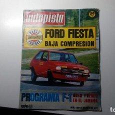 Coches: AUTOPISTA NUMERO Nº 949 DEL 1 DE MAYO DE 1977 REPORTAJE PRUEBA FORD FIESTA. Lote 152060818