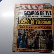 Coches: AUTOPISTA NUMERO Nº 705 DEL 12 DE AGOSTO DE 1972 REPORTAJE GAZAPOS DE TVE MANEJO DEL VOLANTE. Lote 152060862
