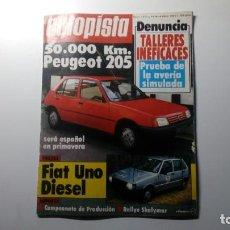 Coches: REVISTA AUTOPISTA NUMERO Nº 1273 10 DICIEMBRE 1983 REPORTAJE PRUEBA PEUGEOT 205 FIAT UNO DIESEL. Lote 152061034
