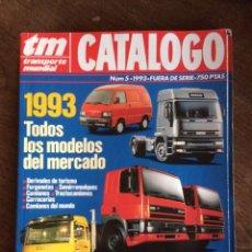 Coches: REVISTA CATALOGO TRANSPORTE MUNDIAL NUMERO 5 DE 1993 PEGASO RENAULT VOLVO SCANIA. Lote 152112150