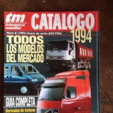 Auto: REVISTA CATALOGO TRANSPORTE MUNDIAL NUMERO 6 DE 1994 IVECO PEGASO RENAULT VOLVO SCANIA. Lote 197600778