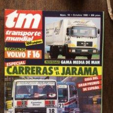 Coches: REVISTA TRANSPORTE MUNDIAL NÚMERO 16 DE 1988 MAN VOLVO SCANIA CAMION. Lote 152201226