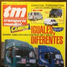 Auto: REVISTA TRANSPORTE MUNDIAL NÚMERO 89 DE 1994 CAMION PEGASO IVECO. Lote 152331857