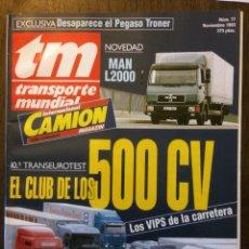 Coches: REVISTA TRANSPORTE MUNDIAL NÚMERO 77 DE 1993 CAMION PEGASO TRONER. Lote 152333969