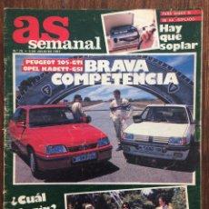 Coches: REVISTA AS SEMANAL Nº75 JULIO 1987 ESPECIAL MOTOR. Lote 152538778